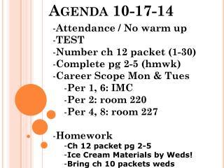 Agenda 10-17-14