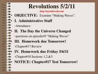 Revolutions 5/2/11 mrmilewski
