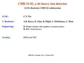 CHICO-II; a 4 π  heavy-ion detector LLNL-Rochester CHICO2 collaboration