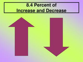 8.4 Percent of  Increase and Decrease