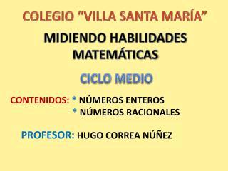 MIDIENDO HABILIDADES MATEMÁTICAS