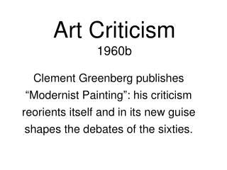 Art Criticism 1960b