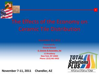 The Effects of the Economy on Ceramic Tile Distribution November 10, 2011