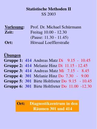 Statistische Methoden II SS 2003