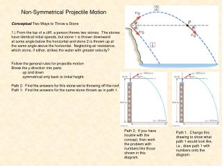 Non-Symmetrical Projectile Motion