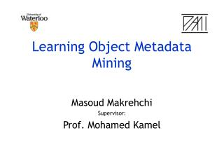 Learning Object Metadata Mining