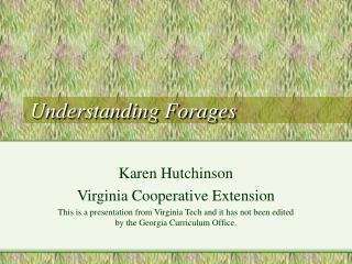 Understanding Forages