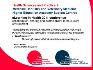 Paul T. Power  University of Hertfordshire