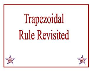 Trapezoidal Rule Revisited