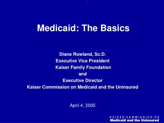 Medicaid: The Basics