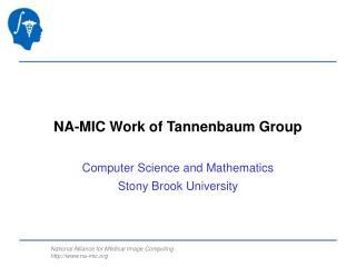 NA-MIC Work of  Tannenbaum  Group