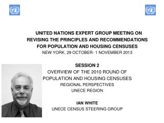 UNITED NATIONS EXPERT GROUP MEETING ON  REVISING THE PRINCIPLES AND RECOMMENDATIONS