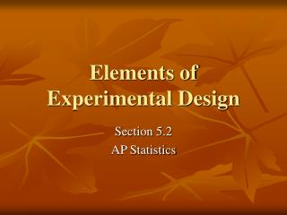 Elements of Experimental Design