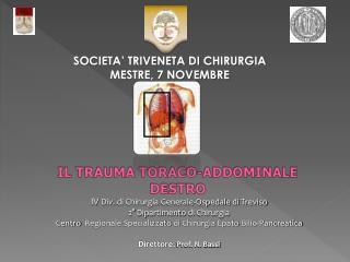SOCIETA  TRIVENETA DI CHIRURGIA MESTRE, 7 NOVEMBRE