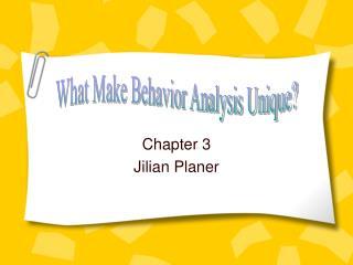 Chapter 3 Jilian Planer