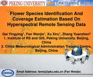 Flower Species Identification And Coverage Estimation Based On Hyperspectral Remote Sensing Data