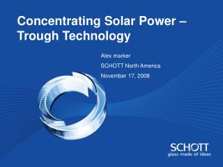 Concentrating Solar Power – Trough Technology
