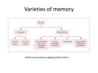 Varieties of memory