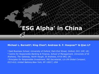'ESG Alpha' in  China