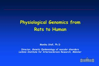 Physiological Genomics from Rats to Human