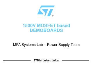 1500V MOSFET based DEMOBOARDS