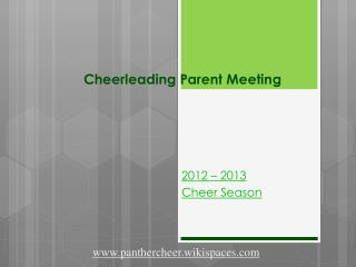 Cheerleading Parent Meeting