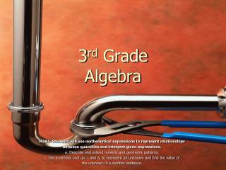 3 rd  Grade  Algebra