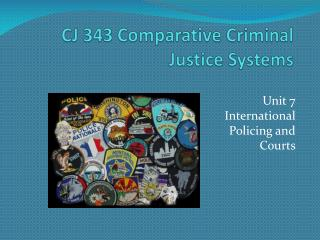 CJ 343 Comparative Criminal Justice Systems