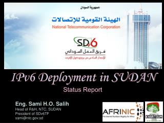 IPv6 Deployment in SUDAN Status Report