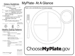 MyPlate- At A Glance