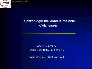 La pathologie tau dans la maladie d�Alzheimer
