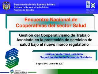 Encuentro Nacional de Cooperativas del sector Salud