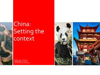 China: Setting the context