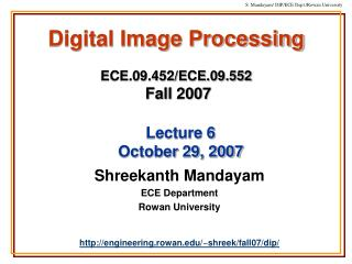 Digital Image Processing  ECE.09.452
