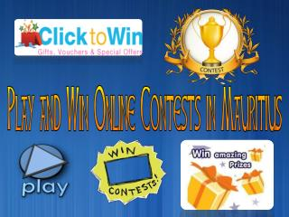 Play and Win Online Contests in Mauritius