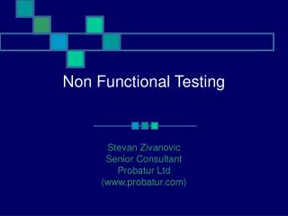 Non Functional Testing