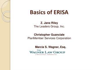 Basics of  ERISA