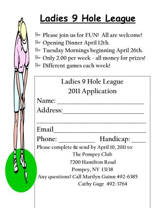 Ladies 9 Hole League