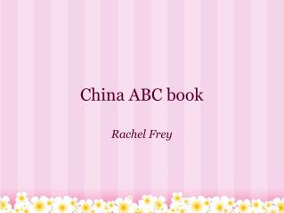 China ABC book