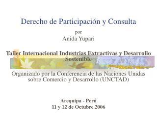 Derecho de Participaci�n y Consulta