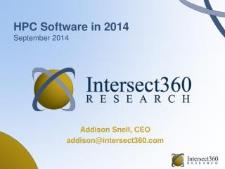 HPC Software in 2014 September 2014