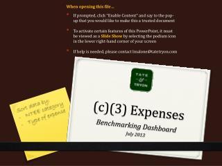 (c)(3) Expenses