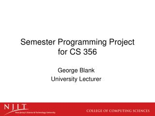 Semester Programming Project for CS 356