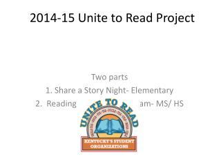 2014-15 Unite to Read Project