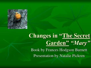 "Changes in "" The Secret Garden""  ""Mary"""