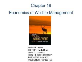 Chapter 18 Economics of Wildlife Management