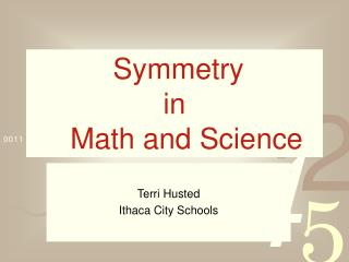 Symmetry  in    Math and Science