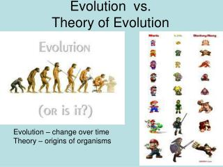 Evolution  vs.  Theory of Evolution