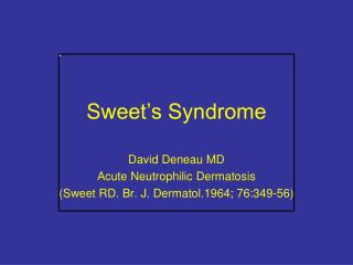 Sweet�s Syndrome