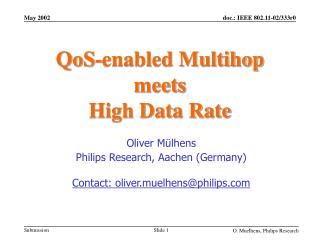 QoS-enabled Multihop meets High Data Rate